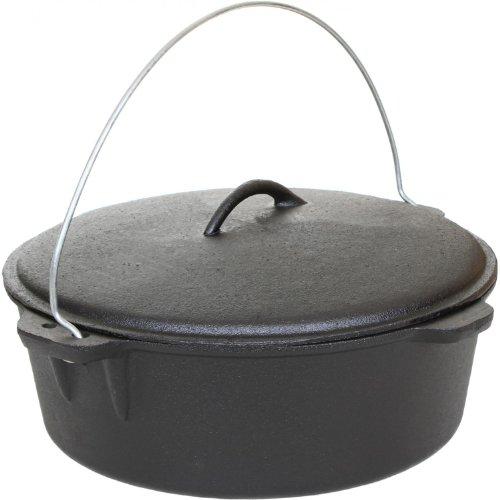 Cajun Cookware 12-quart Seasoned Cast Iron Dutch Oven - Gl10489s