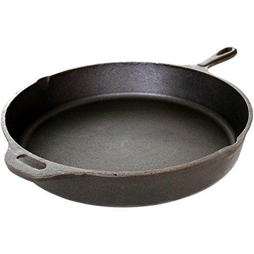 Cajun Cookware 15-inch Unseasoned Cast Iron Skillet - Gl10497-15