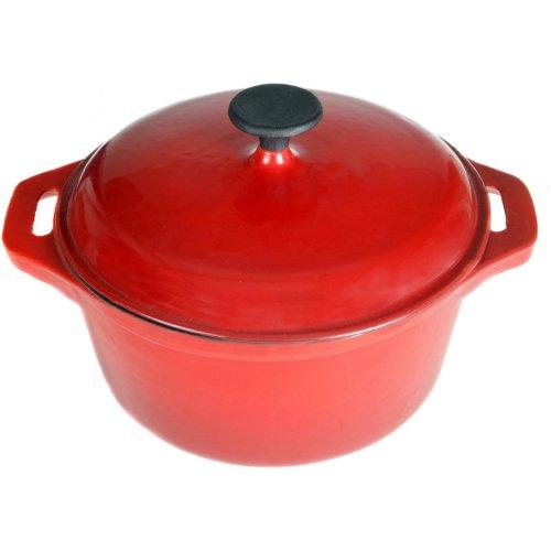 Cajun Cookware 5-quart Enamel Cast Iron Dutch Oven - RedBlack - Gl10487ber