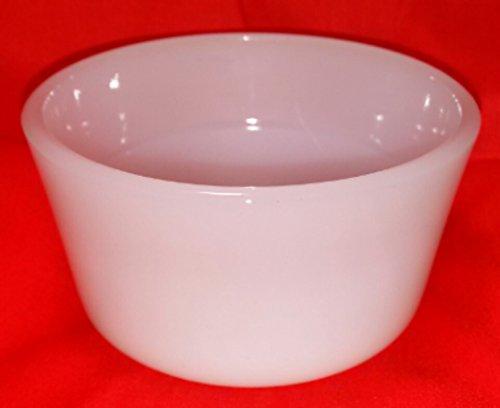 Glasbake White Custard Cup 79