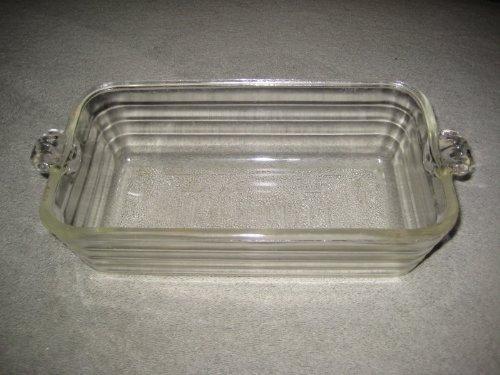 Vintage Heavy Glass Glasbake 9x5x3 Inch Loaf Baking Pan USA