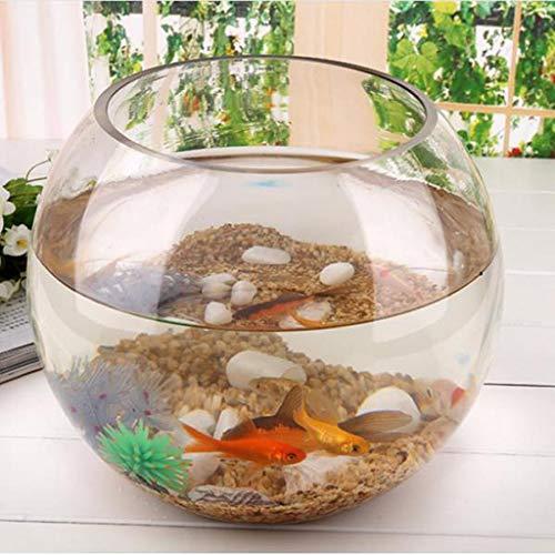 FidgetGear Round Transparent Crystal Glass Bowl Clear Sphere Vase Fish Tank Turtle Jar