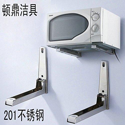 BGmdjcf Kitchen Racks Oven Microwave Bracket 201 Stainless Steel Hanging 30Cm