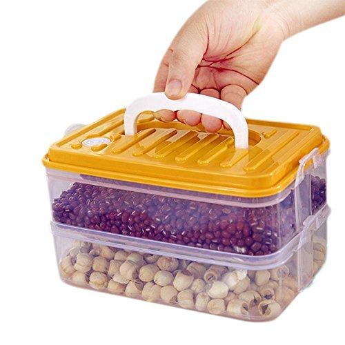Demarkt 3-Level Refrigerator Crisper Microwave Boxes Kitchen Storage Gadgets