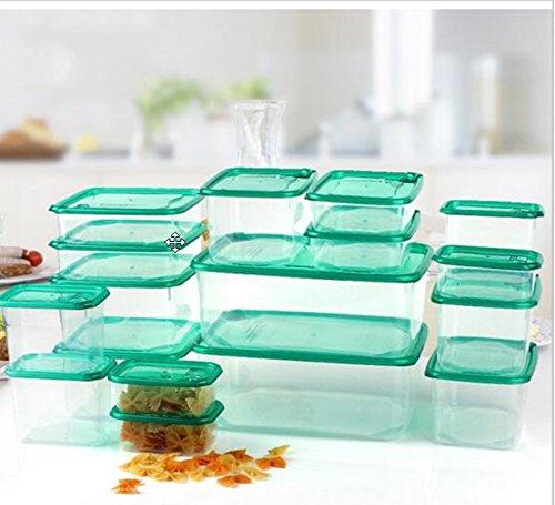 Pakanunpat  Multi Purpose Plastic Kitchen Storage Organizer Storage Box For Refrigerator Crisper Food Container PP Microwave Boxes  17pcsset  Thailand