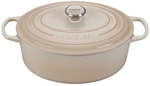 Le Creuset Signature Meringue Enameled Cast Iron 675 Quart Oval Dutch Oven
