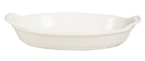 Le Creuset Heritage Stoneware Petite Oval Au Gratin Dish White