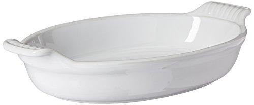 Le Creuset Heritage Stoneware 1-Quart Oval Au Gratin Dish White