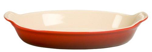 Le Creuset Heritage Stoneware Petite Oval Au Gratin Dish Cerise Cherry Red