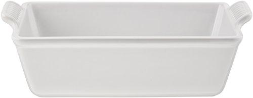 Le Creuset PG1049-2316 Heritage Stoneware Loaf Pan 1 12qt White