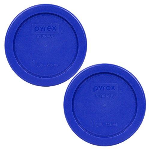 Pyrex 7202-PC 1 Cup Cadet Blue Plastic Replacement Lids - 2 Pack