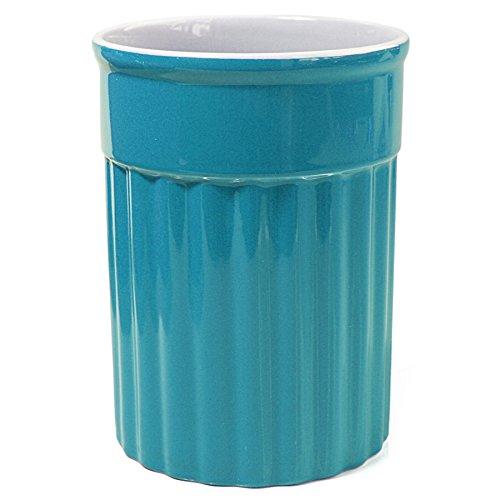 Omniware Simsbury Turquoise Ceramic Utensil Holder