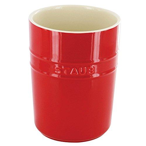 Staub 40511-577 Ceramic Utensil Holder Cherry