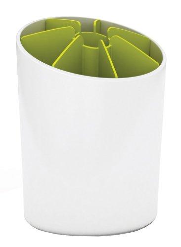 Joseph Joseph Segment Utensil Pot with Dividers White and Green