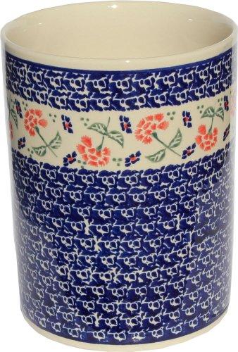 Polish Pottery Utensil Holder From Zaklady Ceramiczne Boleslawiec 832-963 High 7 Diameter 59