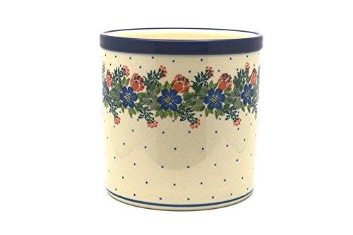 Polish Pottery Utensil Holder - Garden Party