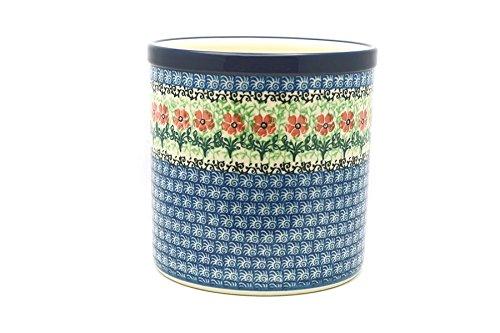 Polish Pottery Utensil Holder - Maraschino