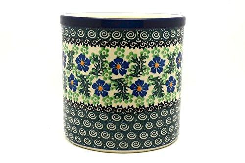 Polish Pottery Utensil Holder - Sweet Violet