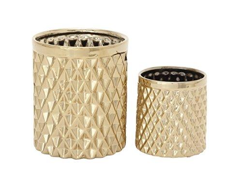 Benzara 93673 Gleaming Ceramic Kitchen Utensil Holder Set of 2
