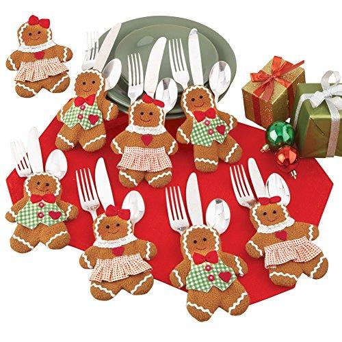 Holiday Gingerbread Utensil Holder - Set of 8