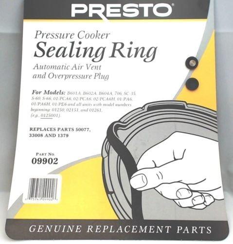 Presto Pressure Cooker Sealing Ring Gasket 09902