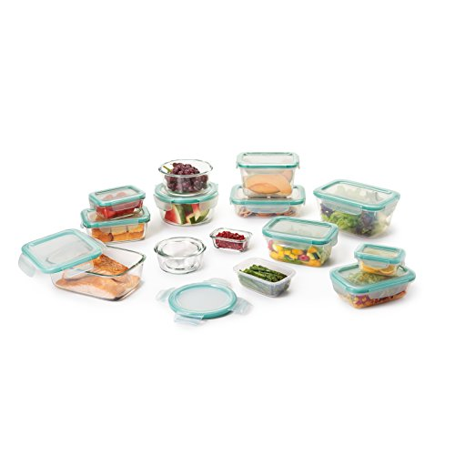 OXO Good Grips 30 Piece SNAP Leakproof Glass and Plastic Food Storage Container Set
