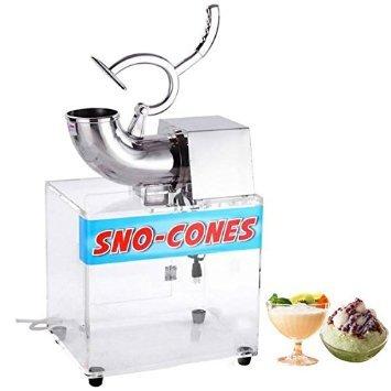 Electric Snow Cone Maker Ice Shaver Machine Acrylic Box