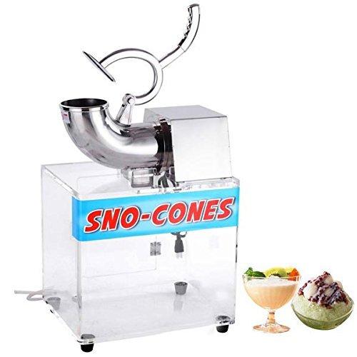 Koval Inc Electric Snow Cone Maker Ice Shaver Machine Acrylic Box