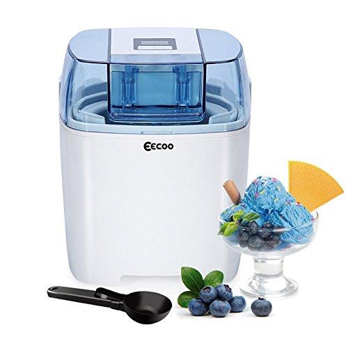 Ice Cream Maker Machine Frozen Yogurt Sorbet Gelato Machine15L Freezer BowlLCD Countdown-Timer20-40 Mins Making Time