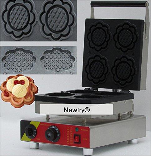 Newtry NP-508 four slices plate shape waffle maker belgian waffle maker waffle baker Ice cream cone machine commercial Waffle Toaster 220V