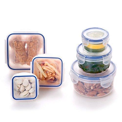 ElaineStore 6PCs Airtight CondimentSauceSnackFood Plastic Storage Containers Set