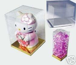 24 PCS 5x5x7 Party Favor Tuck Top Clear PVC Plastic Box W Silver Card Bottom