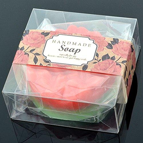 Chawoorim 50 Clear Plastic Gift Boxes for Jewelrysoaplip Tube