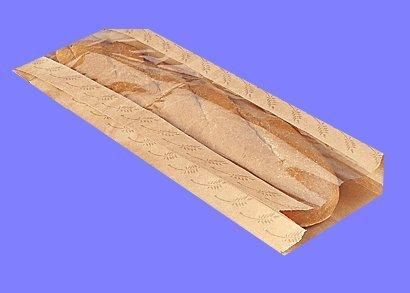Cakesupplyshop Packaged C9y- 25 Food Packaging Kraft Paper Long Bread Food Bags with Front Window 6 X 25 X 18