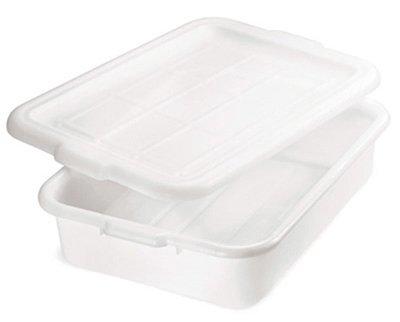 Tablecraft Food Storage Box 21-14 by 15-34 by 5-Inch White
