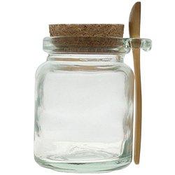 8oz Glass Jar with Spoon Cork Lid
