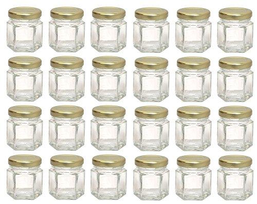 Hexagon Glass Jars Mini Hex Jars 15 Oz - Case of 24