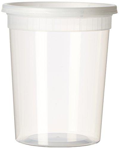 Sets 32oz Plastic Soupfood Container with Lids 12