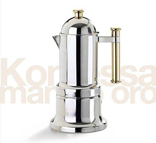 Stovetop Espresso Maker Vev Vigano Kontessa Gold 4 Cup