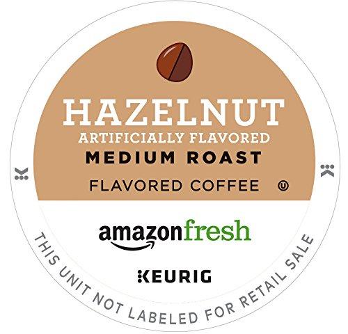AmazonFresh 80 Ct K-Cups Hazelnut Flavored Medium Roast Keurig K-Cup Brewer Compatible