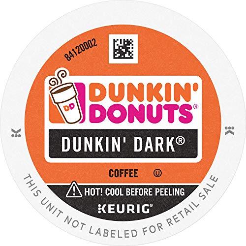 Dunkin Donuts   Dark K Cup Pods Dark Roast Coffee for Keurig Brewers 60Count