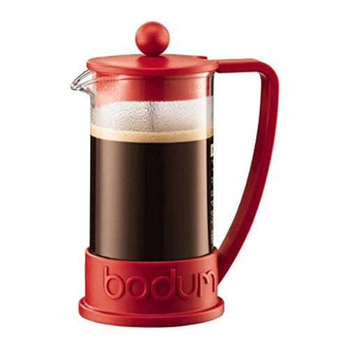Bodum Brazil Red French Press Cafetiere Coffee Maker Pot Plunger 3 Cup 035L
