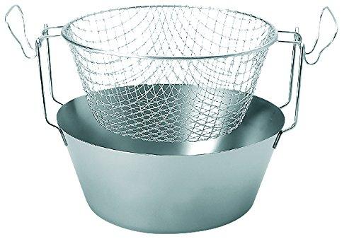 ARTAME Traditional Stainless Steel Deep Fryer Pan With Aluminum Frying Basket N30 67Lts - 226 Floz