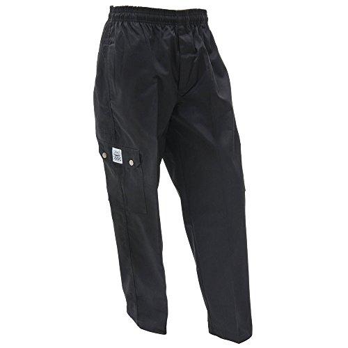 Chef Revival P024BK-XL QC Lite XL Black Cargo Pants