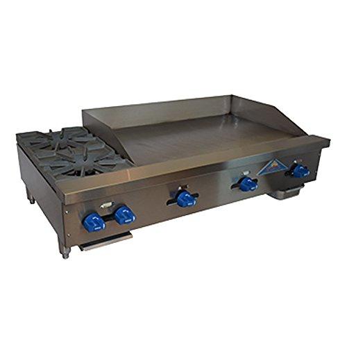 Comstock Castle FHP48-36 Gas Countertop Hot Plate Griddle Combo Unit