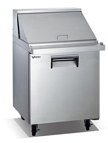 Vortex Refrigeration Commercial 1 Door 27 12 Pan Mega Top Sandwich Prep Table - 7 Cu Ft
