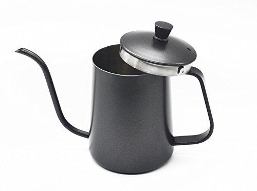 Thick 10mm 304 Stainless Steel Coffee Drip Kettle Tea Pot - Lmeison Kitchen tools Creative kettle Gooseneck Spout Coffee Percolator - 600MLBlack