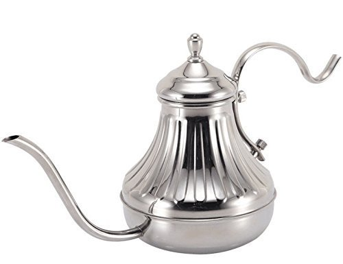Diguo Hand Drip Kettle Pour Over Coffee and Tea Pot Premium Stainless Steel 650ml22oz Silver