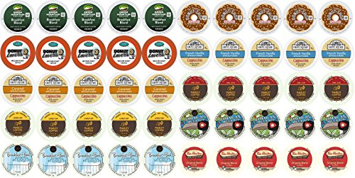 50-count K-cup Coffee Variety Pack For Keurig Brewers Including Green Mountain Coffee People Marley Wolfgang Puck Tim Hortons Donut Lovers Grove Square