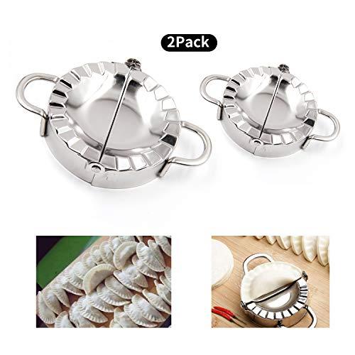 SZJHXIN Dumpling Maker Empanada Press Pierogi Ravioli Mold SetStainless Steel 2 Pack Pierogi Mold Making Tools Pot Sticker 37495cm 29575cm